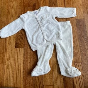 Carter's White Two Piece Outfit With Feet